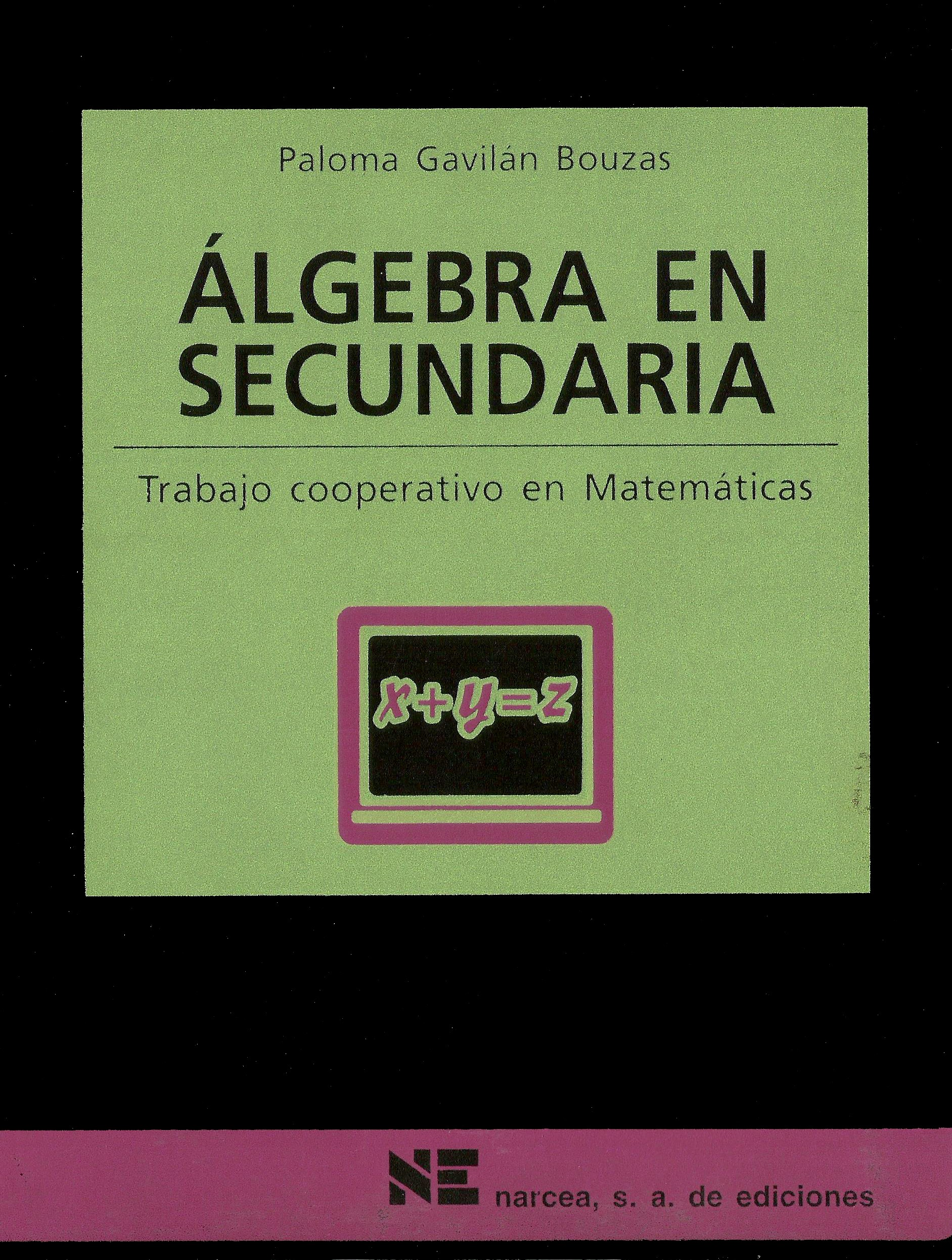 Álgebra en secundaria