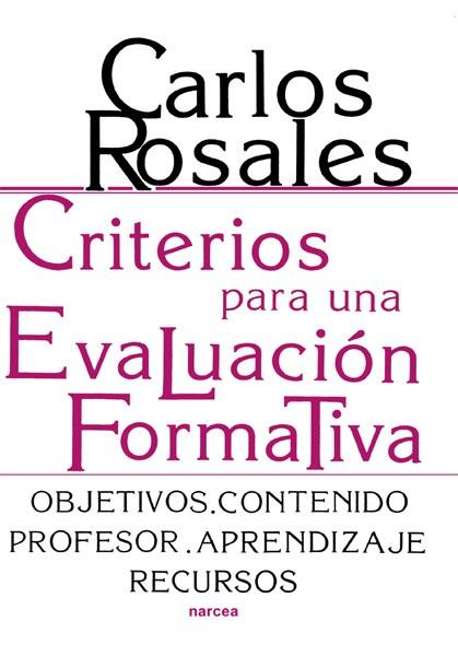Criterios para una evaluación formativa