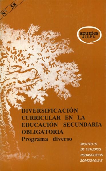 DIVERSIFICACIÓN CURRICULAR EN LA EDUCACIÓN SECUNDARIA OBLIGATORIA