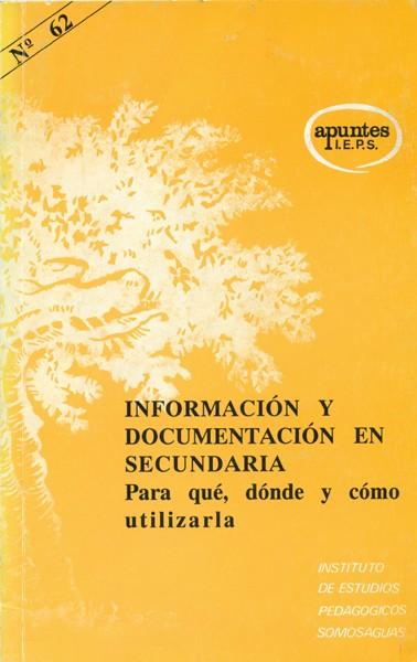 Información y documentación en secundaria