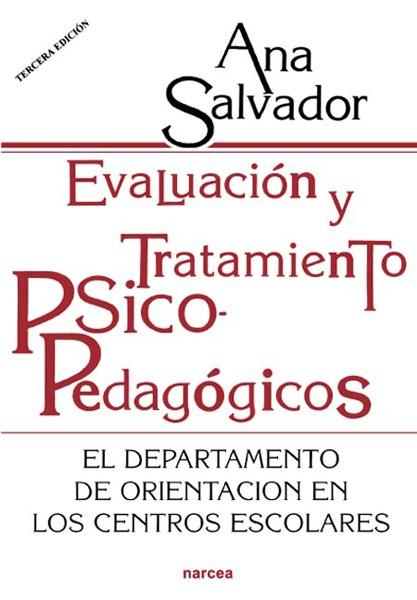 Evaluación y tratamiento psicopedagógicos